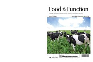 Food & Function Linking the chemistry and physics of food with health and nutrition