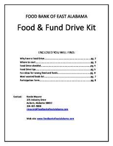 Food & Fund Drive Kit