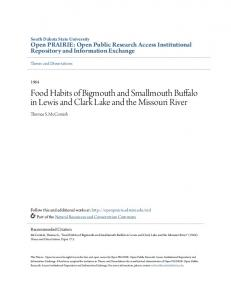 Food Habits of Bigmouth and Smallmouth Buffalo in Lewis and Clark Lake and the Missouri River