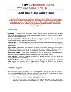 Food Handling Guidelines