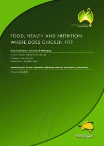 FOOD, HEALTH AND NUTRITION: WHERE DOES CHICKEN FIT?