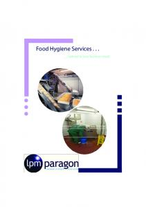 Food Hygiene Services tailored to your business needs