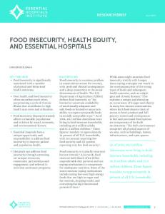FOOD INSECURITY, HEALTH EQUITY, AND ESSENTIAL HOSPITALS