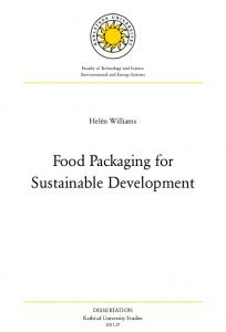 Food Packaging for Sustainable Development