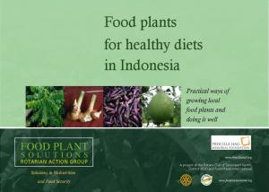 Food plants for healthy diets in Indonesia