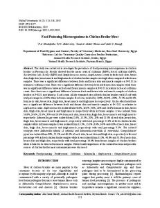 Food Poisoning Microorganisms in Chicken Broiler Meat