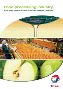 Food processing industry. Your production is secure with nevastane lubricants