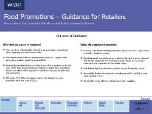 Food Promotions Guidance for Retailers