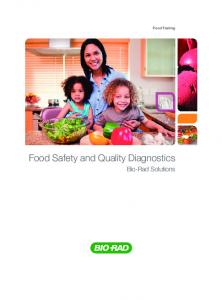 Food Safety and Quality Diagnostics