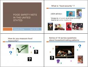 FOOD SAFETY NETS IN THE UNITED STATES