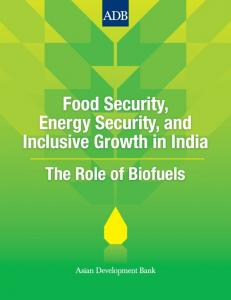 Food Security, Energy Security, and Inclusive Growth in India. The Role of Biofuels