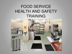 FOOD SERVICE HEALTH AND SAFETY TRAINING