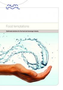 Food temptations. Optimized solutions for the food and beverage industry