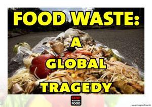 FOOD WASTE: a global tragedy