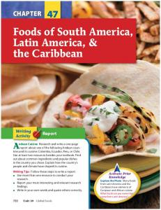 Foods of South America, Latin America, & the Caribbean