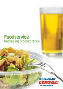 Foodservice. Packaging product range
