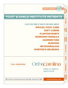 FOOT & ANKLE INSTITUTE PATIENTS