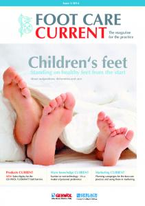 FOOT CARE CURRENTThe magazine