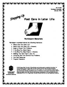 Foot Care in Later Life
