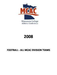 FOOTBALL - ALL MCAC DIVISION TEAMS