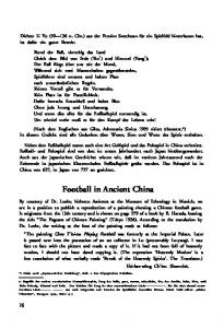 Football in Ancient China