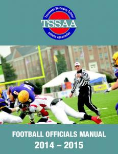FOOTBALL OFFICIALS MANUAL