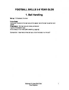 FOOTBALL SKILLS 5-8 YEAR OLDS. 1. Ball Handling