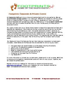 Footprints Corporate & Private Events