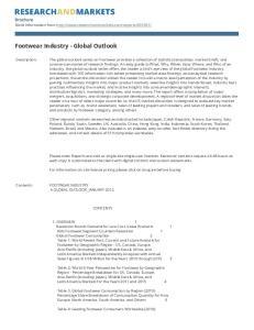 Footwear Industry - Global Outlook