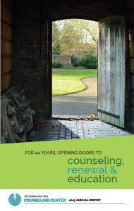for 44 years, opening doors to counseling, renewal & education des moines pastoral Counseling Center 2015 Annual Report