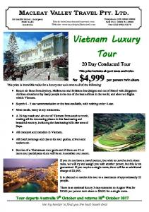 for $4,999 per person twin share This price is incredible value for a luxury tour as it covers all of the following:
