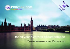 for all your electoral documentation