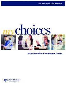 For Bargaining Unit Members Benefits Enrollment Guide