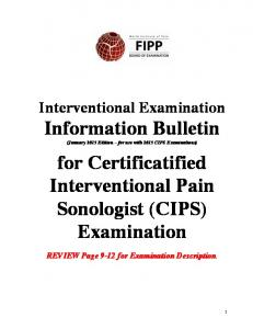 for Certificatified Interventional Pain Sonologist (CIPS) Examination