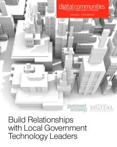 FOR CITY AND COUNTY LEADERS ANNUAL PROGRAM. Build Relationships with Local Government Technology Leaders