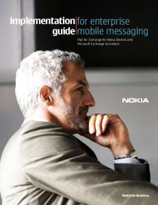 for enterprise mobile messaging