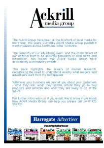 For further information or if you would like to know more about how Ackrill Media Group can help you please call on