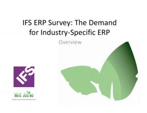 for Industry Specific ERP Overview