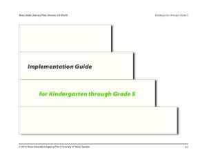 for Kindergarten through Grade 5