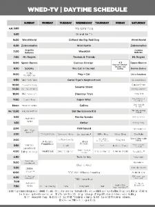 For listings between 5:00 AM 7:30 PM, please see Daytime Grid. Page 1
