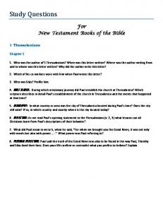 For New Testament Books of the Bible
