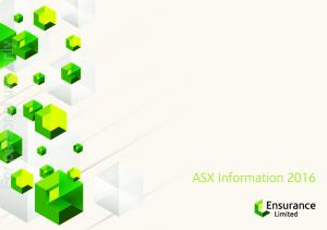 For personal use only. ASX Information 2016