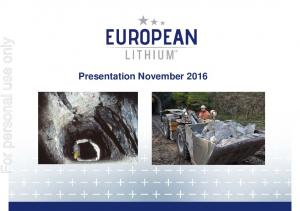 For personal use only. Presentation November 2016
