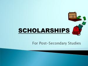 For Post-Secondary Studies