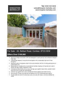 For Sale - 26, Belfast Road, Comber, BT23 5EW