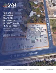 FOR SALE TRIGGERS SEAFOOD RESTAURANT (BUSINESS AND REAL ESTATE)