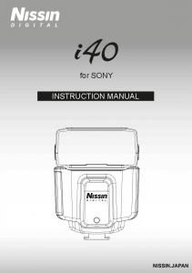 for SONY INSTRUCTION MANUAL