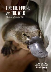 For the future the wild. A lasting gift in your Will