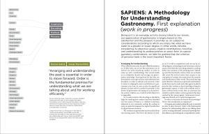 for Understanding Gastronomy. First explanation (work in progress)