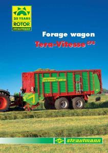 Forage wagon. Tera-Vitesse CFS